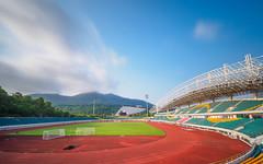 P4260798 (Xuqing Jia) Tags: china blue sky cloud mountain sunshine sport long exposure stadium chinese sunny wideangle olympus filter nd shenzhen   buiding em5 nd1000 714pro