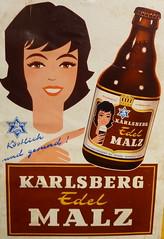 Karlsberg Edel Malz (micky the pixel) Tags: beer sign museum vintage germany poster deutschland schild bier plakat saarland karlsberg homburg malzbier brauereimuseum mangelhausen karlsbergbrauerei