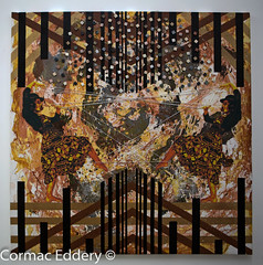 Neuroacrobatics (cormaced) Tags: art collage painting dance artwork embroidery brain ratio