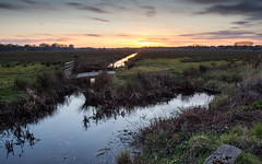 Wetlands at Wareham (Joe Dunckley) Tags: uk sunset england water landscape dorset marsh purbeck wetland wareham isleofpurbeck