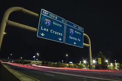 IMG_2337 (CassinStacy) Tags: street new city light people urban night mexico evening highway bokeh albuquerque freeway fe sante