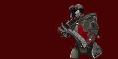 Shark Face (RvB) (Cyan Junkie) Tags: art digitalart halo spartan rvb redvsblue whatswiththisguy