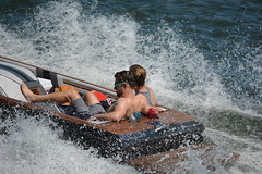 The Back Seat (swong95765) Tags: woman man water river fun boat power ride speedboat recreation splash