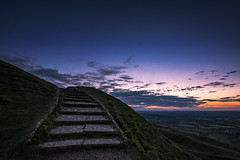 To the summit (Andy2305) Tags: sunset landscape steps herefordshire britishcamp malvernhills