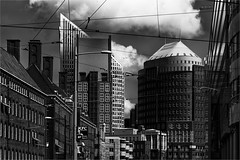 The Hague in monochrome (zilverbat.) Tags: world windows wallpaper blackandwhite bw black blanco monochrome sport architecture modern clouds canon buildings photography lights noir zwartwit cityhall postcard towers thenetherlands culture denhaag visit stadt kfc dada innercity gotham bild zwart thehague hoftoren stadhuis cultuur ministerie onderwijs binnenstad tripadvisor hofstad skischans kalvermarkt blackwhitephotos defensie zwartwitfotografie zilverbat hetministerievansportonderwijsencultuur