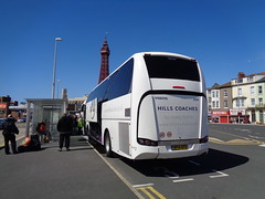 BF15KFR Hills Coaches in Blackpool (Rear Nearside View with Tower add on top!) (j.a.sanderson) Tags: volvo coach hills blackpool coaches wolverhampton sc7 sunsundegui b11r bf15kfr