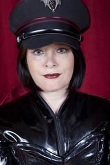 _MG_8377 (traveller-28) Tags: black hat fetish boots vampire military vinyl gloves corset brunette seduction catsuit pvc jumpsuit lack dominatrix tumblr