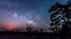 Moon rise and Milkyway Galaxy