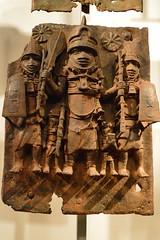 cast brass plate, Benin City, Nigeria (4) (Mr. Russell) Tags: africa england london plate nigeria benin britishmuseum brass
