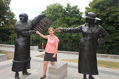 Emma and Women Are Person's Monument's Rights (Dawn Coyote) Tags: monument statue women ottawa persons parliamenthill womensrights