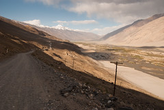 Calmly downhill :) (Michal Pawelczyk) Tags: road trip holiday mountains bike bicycle june nikon asia flickr aim centralasia pamir gory wakacje 2015 czerwiec panj azja d80 pamirhighway gbao azjasrodkowa azjacentralna