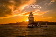 Maiden`s Tower (koraybektas) Tags: sunset tower canon turkey istanbul maidens canon24105f4 canon6d