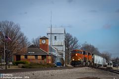 No Work at the Depot (Nathan Jurgensen) Tags: santa burlington scott fort sub kansas fe northern bnsf lenexa kcmo kck canon7d