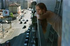 Sunday (Something long forgotten) Tags: street city urban milan cars window girl view sunday bored giulia morningview bersani