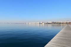 Thessaloniki seafront. (fil_____) Tags: blue sea seascape nikon ngc greece serenity thessaloniki seafront timeless deepblue thermaikos macedonian  makedonia      macedoniagreece  nikond3300  mythessaloniki