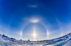 Solar Halo over Churchill Rocket Range (Amazing Sky Photography) Tags: ice crystals arctic churchill hdr parhelia circumzenithalarc sundogs solarhalo uppertangentarc atmosphericphenomena rocketrange