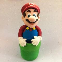 Mario ...... (abbietabbie) Tags: birthday cake model mario edible topper supermario fondant ricekrispietreats