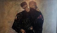 Schiele, Hermits, detail