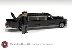 Mercedes-Benz 600 Pullman (W100) (lego911) Tags: auto classic car germany mercedes benz model lego yacht render limo 99 german 600 pullman mercedesbenz land 1960s luxury challenge limousine cad lugnuts 1963 povray moc ldd lwb miniland landyachts w100 lego911