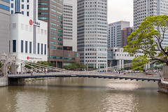 Cavenagh Bridge (yc4646) Tags: building nature water ecology architecture river office scenery afternoon footbridge transport structures officebuilding architectural transportation environment environmentalism ecosystem edifice edifices commercialbuilding