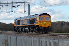 59003 Kingsthorpe 110216 (Dan86401) Tags: 59003 590 class59 gm generalmotors gbrf gbrailfreight europorte wilsonscrossing kingsthorpe northampton wcml 0z59 lightengine