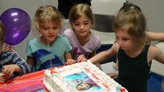 Abigail Blows Out Her Candles (Joe Shlabotnik) Tags: birthday cake video lily violet madeleine anastasia everett sarahp 2015 robj nikond7000 abigailj april2015