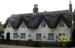 [39429] Repton : 1 Willington Road (Budby) Tags: house blackwhite 17thcentury derbyshire cottage thatched timbered repton