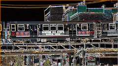 The 'L' Over North Halsted Street Chicago (IL) September 2015 (Ron Cogswell) Tags: subway thel chicagoil theelevated roncogswell thelovernorthhalstedstreetchicagoil