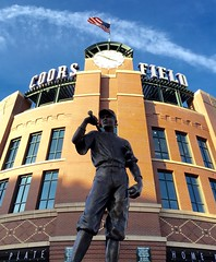 Coors Field, home plate entrance (f l a m i n g o) Tags: field statue rockies colorado baseball denver coors coorsfield