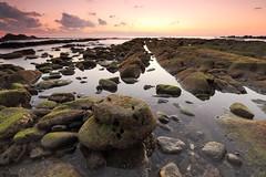 Rocks (appi U) Tags: sunset sea seascape beach water rock japan coast chiba
