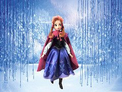 OOAK ANNA DOLL (TwinTipFeltTip) Tags: winter anna wool movie fur olaf frozen doll crystal ooak hans silk disney swarovski custom satin sven elsa kristoff arandelle