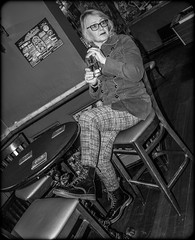 Dr Marten Pose. (CWhatPhotos) Tags: pictures camera uk girls portrait england music woman house black public leather angel canon pose that photography pub foto durham hole legs image boots artistic zoom pics walk dr gig leg north picture pic images womens holes east have photographs photograph fotos 7d gigs sole venue marten which soles dm 18200 eight docs alternative contain bouncing airwair martens theangel patent dms crossgate onthe 18200mm 1460 cwhatphotos crossgatedurham