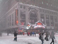 2016 Blizzard In Times Square NYC Snowstorm 5690 (Brechtbug) Tags: 2016 blizzard in times square area near 42nd st nyc 01242016 snow storm snowstorm year blizzards winter weather car hell s kitchen clinton new york city taxi cab covered pile saturday january fall broadway theaters theater marquee