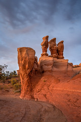 Stand Up and Be Counted (Jeffrey Sullivan) Tags: trip travel red copyright jeff monument nature rock digital canon landscape photography rebel utah photo october sandstone bureau outdoor conservation grand roadtrip management national staircase land lands sullivan exploration escalante 2007 blm grandstaircaseescalantenationalmonument bureauoflandmanagement xti wwwjeffsullivanphotographycom seeblm blmproud