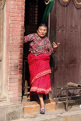 Patan, Nepal (Sharon and Peter Komidar) Tags: door nepal candid patan peoplewatching