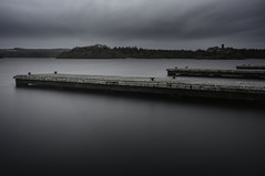 Three (7gismo) Tags: longexposure ireland sky lake castle water clouds concrete spring dock roscommon loughkey loughkeyforestpark