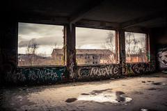 Chambre avec vue... (Gilderic Photography) Tags: windows abandoned architecture canon graffiti ruins belgium belgique belgie fort chartreuse liege urbex 500d gilderic