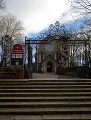 Entry gates to St Pancras Old Church (IanAWood) Tags: urban stpancras walkingwithmynikon lbofcamden nikkorafs28mmf18g nikondf