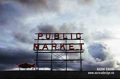 Pike Place Market, Seattle (Naomi Rahim (thanks for 3.9 million visits)) Tags: seattle street city travel sky usa fish sign clouds america typography washington nikon neon market streetphotography roadtrip historic wanderlust wa pikeplacemarket pikeplace 2015 travelphotography nikond7000