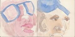 Arbeiter, deren Gesichter die schwere Ttigkeit zeichnete, hatten sich eingefunden, um staunend zu hren (raumoberbayern) Tags: summer bus pencil subway munich mnchen sketch drawing sommer tram sketchbook heat ubahn draw bleistift robbbilder skizzenbuch zeichung