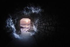 Something in the air (Timothy Gilbert) Tags: sunrise cornwall smoke bricks tunnel fisheye charlestown gx7 samyang75mmf35