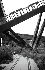 The gray escalator (Mariusjtz) Tags: new old city bw white black industry stairs train germany way out concrete grey nice essen long industrial day colours outdoor walk alt no escalator gray picture free combine aus pictureoftheday neu beton zollverein zeche kokerei weltkulturerbe mach schiene rolltreppe zoll 2016 2015 colorfree kombiniert