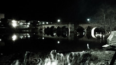 Night on the Nith (tobymeg) Tags: bridge white black water reflections river lights scotland microsoft dumfries 640 nith lumia lte