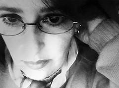 years ago... (Sonia Gobato) Tags: bw woman face donna mujer retrato occhi nostalgia agosto thinking sonia mirada mensaje selfie pensando añospasados