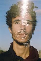 (Pheral Lamb) Tags: portrait sun reflection film water vertical nikon ben doubleexposure multipleexposure fe redhook winterlight kodak400 newyorkharbor ultramax kiron28105