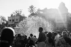 Holy Sprinkle Curve | Mahamaham,Kumbakonam 2016 (vjisin) Tags: travel people india monochrome 50mm asia religion holy hinduism tamilnadu southindia kumbakonam niftyfifty indianheritage mahamaham2016 southindiankumbamela2016