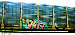 tars (timetomakethepasta) Tags: train one graffiti crew freight aa tars autorack stelth