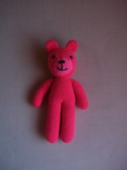 Pink bear (Miss Carlaina Love!) Tags: animals kids toys diy dolls handmade crochet craft etsy amigurumi juguetes ganchillo crochetlover etsyowner