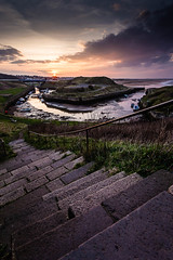 The Harbour Steps (f22 Digital Imaging) Tags: sunset seascape landscape northumberland seatonsluice northeastengland