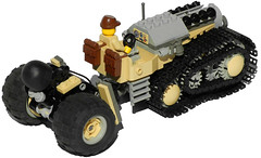 Heavy Mortar Carriage (towing attachment) (aillery) Tags: field spring gun lego military mortar weapon cannon artillery arrow shooter piece heavy spigot launcher towed dieselpunk